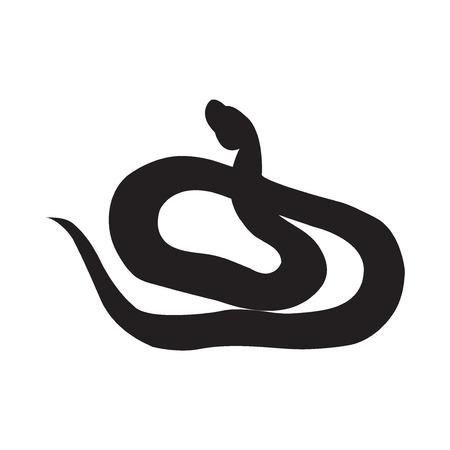 Schwarzes Schattenbild des Vektors eines Schlangenaddierers.
