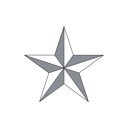 Vector abstract cute star icon isolated on a white background