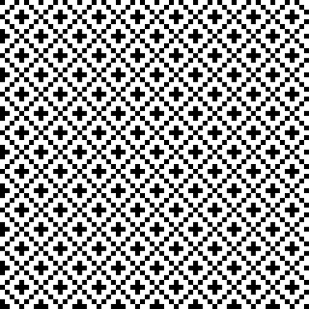 Vector monochrome seamless textile background of repeating elements Çizim