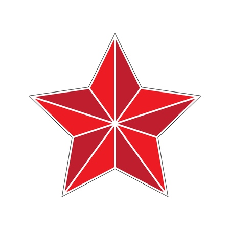 Flat vector retro star for fine decorations design