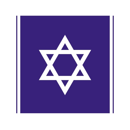 Vector abstract cute Star of David isolated icon