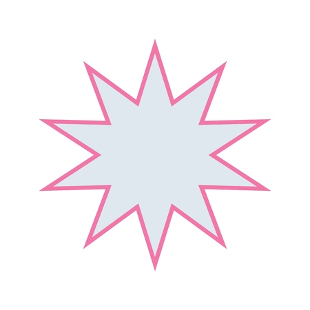 Vector abstract cute star icon for print, gift, web, scrap and patchwork