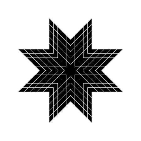 Vector abstract cute star icon  for print, gift, web, scrap and patchwork Stock Illustratie