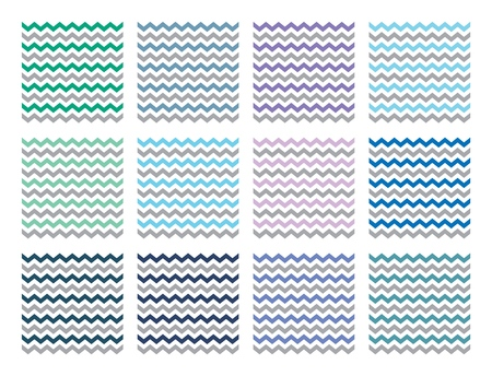 Vector Chevron patterns set for print, gift, web, scrap and patchwork. Illustration