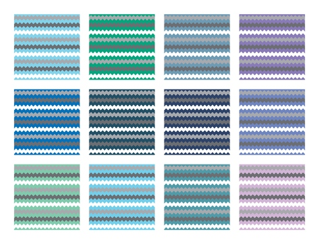 Vector Chevron patterns set for print, gift, web, scrap and patchwork.  イラスト・ベクター素材