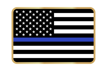Vector fine reproduction American Police Flag Illustration