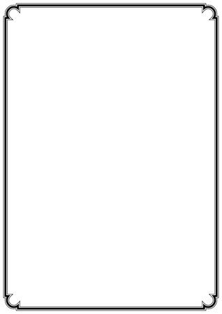 Bordure de page simple de vecteur pour la conception de décorations fines