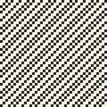 Vector monochrome seamless textile background of repeating elements Stock Illustratie