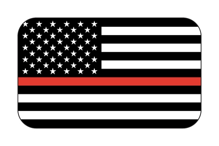 Vector reproduction Thin Red Line Firefighter Flag