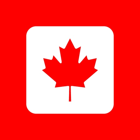 Vector Reproduction flag of Canada simple design icon 矢量图像
