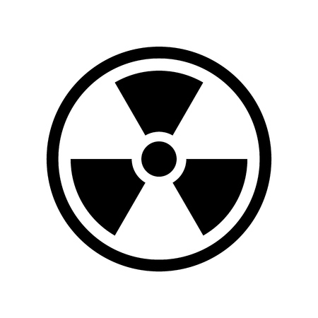 Vector Reproduction of Radioactive symbol simple design icon