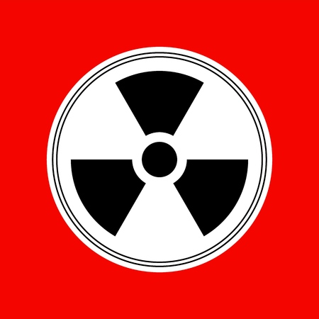Reproducción de vector de icono de diseño simple de símbolo radiactivo