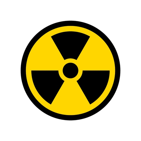 Vektor-Reproduktion des einfachen Design-Symbols des radioaktiven Symbols