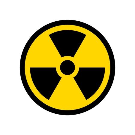 Wektor reprodukcji ikony prostego projektu symbolu radioaktywnego