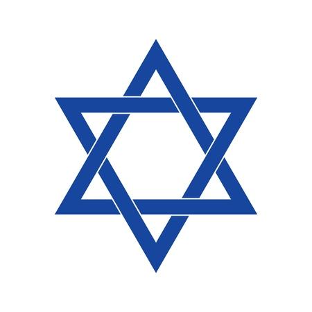 Vector david star symbol for simple design Illustration