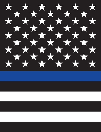 Vector fine reproduction American Police Flag  イラスト・ベクター素材