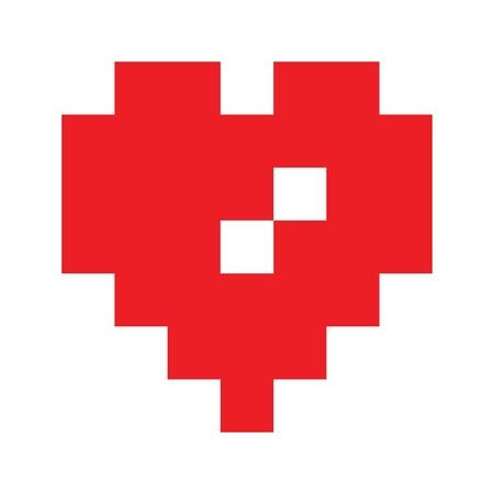 Vektor-Herz-Symbol für Druck, Geschenk, Web, Schrott und Patchwork.