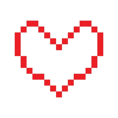 Vector Heart icon for print, gift, web, scrap and patchwork. Illustration