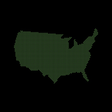 Abstract map of the United States created from pixels