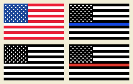 Vector Reproduction of Flags - Symbol of the United States of America