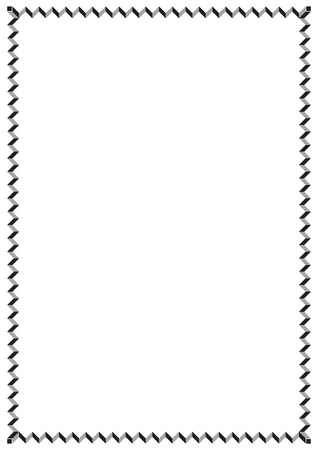 Bordure de page de style vintage de conception de papier de vecteur
