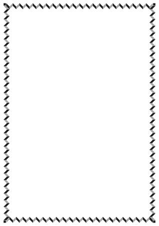 Vector paper design vintage style page border Illustration