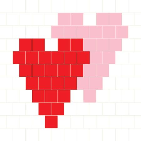 Vector Hama Beads Pattern - Hearts