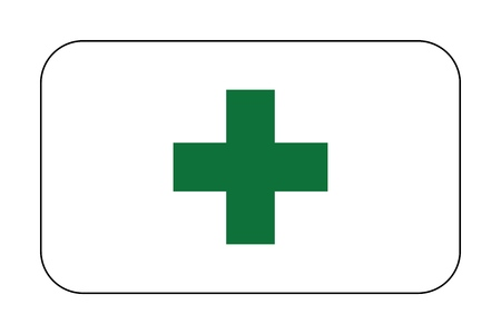 First aid. Medical cross vector icon. Medicinal and pharmacy sign. 版權商用圖片 - 126095994