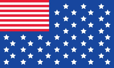 Vector Trendy Invert American Flag for print, gift, web, scrap and patchwork. 向量圖像