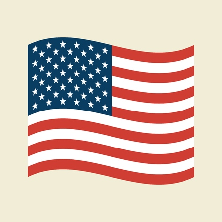 Vector Trendy American Flag for print, gift, web, scrap and patchwork.