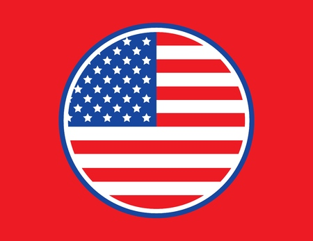 Vector Trendy Round American Flag for print, gift, web, scrap and patchwork.
