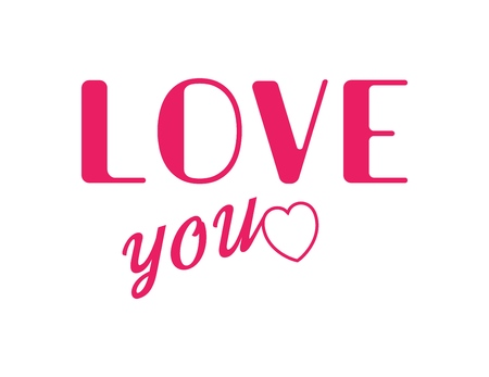 Happy Valentines Day poster. Vector Love Symbol.