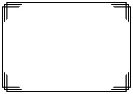 Bordo della pagina in stile vintage con design in carta A4 Vettoriali
