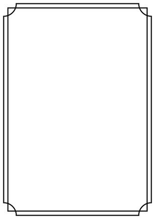 A4-Papierdesign-Seitenrand im Vintage-Stil
