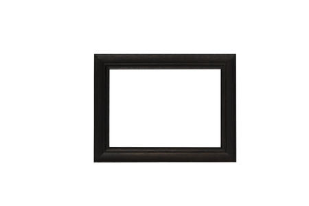 wooden picture frame Isolated on white background. Фото со стока
