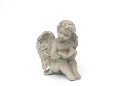 Cupids statue On a white background