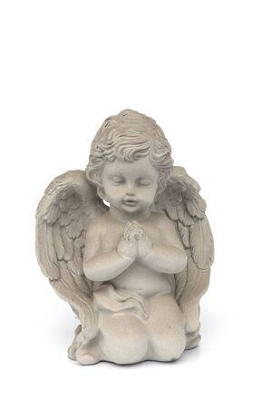 Cupids statue on the White Blackground Stok Fotoğraf