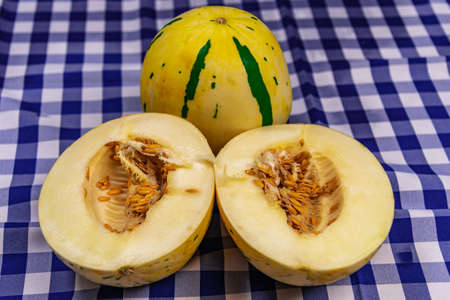 Melon fruit (Cucumis melo L.). Used for those who want to lose weight. Tropical fruit rich in water and minerals.