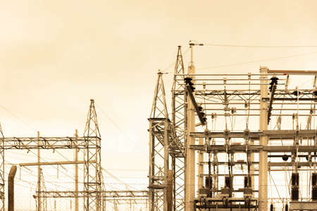 partial view of a power substation and part of its equipment and distribution network. Letetric Energy Infrastructure in Brazil