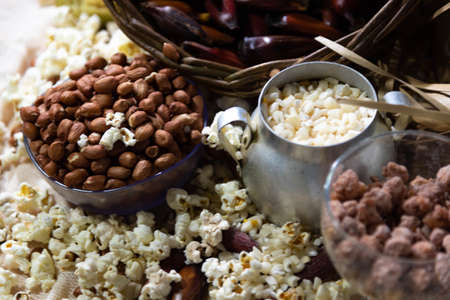 Typical foods. Sweet and savory. June festivals in Brazil. Carrapinha, popcorn, hominy and pine nuts. Manta ray. St. John's Day. Typical festivals. Brazilian folklore. Goodies.