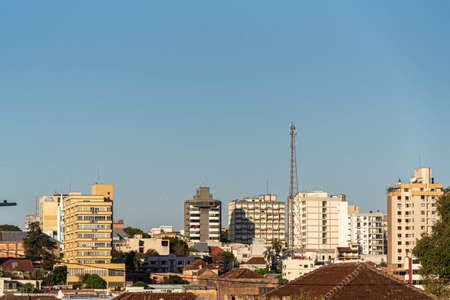 Urban area and center of the City of Ijui in southern Brazil. City of the State of Rio Grande do Sul. Historic center. Urban area. Soybean production city.