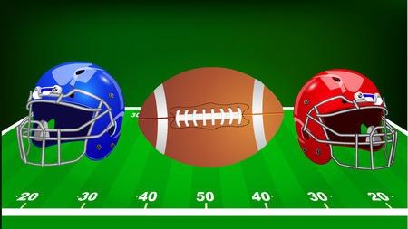 Vector illustration. Set of sport equipment. American football. Illustration