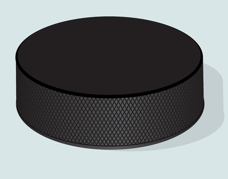 puck: Hockey puck. Vector realistic illustration.