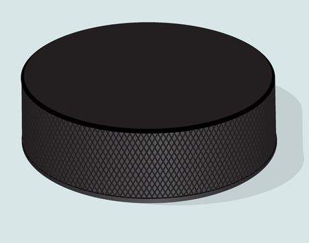 Hockey puck. Vector realistic illustration.