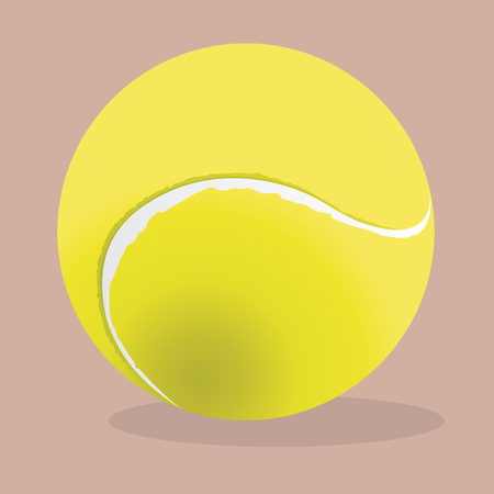 bounce: Tennis ball, vector realistic illustration. Sport equipment. Stock Photo