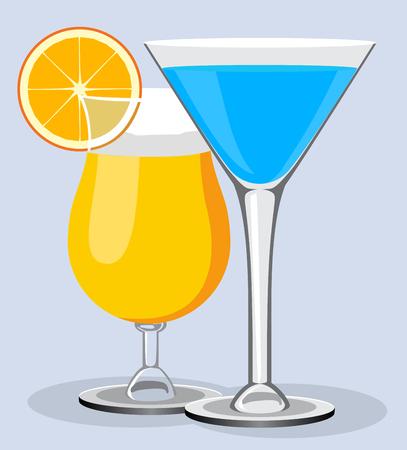 daiquiri alcohol: Vector cocktails. Cocktail summer design background Illustration