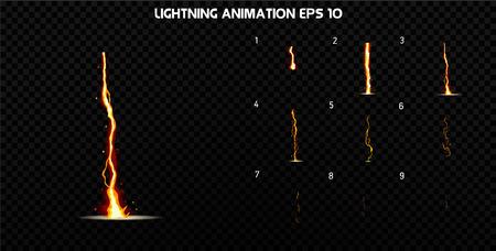Explotar la animación efecto de humo. marcos explosión de dibujos animados. hoja de sprites de explosión. Animación de juego o de dibujos animados.