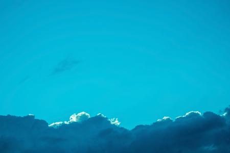 Blue sky clouds at sunset or sunrise Stock fotó