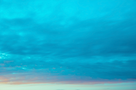 blue sky clouds at sunset or sunrise