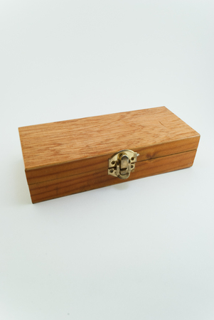 one close wood box 写真素材